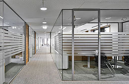 Hallenbüros Meisterbüros Trennwandsysteme Lagerbühnen